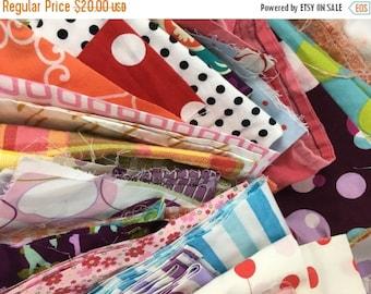 CRAZY SALE- Scrap Builder Stash-Get Your Fix- Reclaimed Scrap Bundle-Colorful Prints