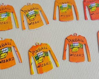 Vintage pinball wizard charms