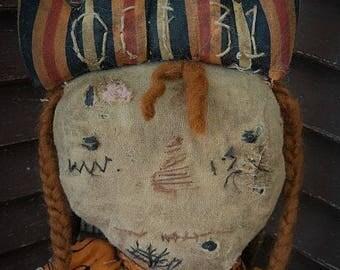 MUSTARD SEED ORIGINALS, Pumpkin, Fall, Halloween, Candy Corn, Raggedy Ann, Primitive, Extreme Primitive, Doll by Sharon Stevens