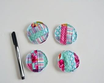 Fridge Magnets - Patchwork Magnets - Office Magnets - Patchwork Magnets - Teacher Gift - Gift under 15 - Gift for Mom -