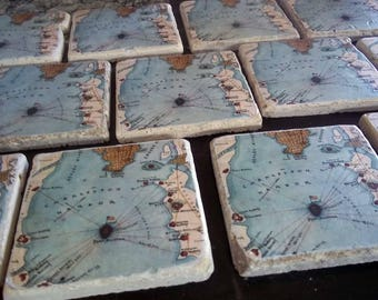 Custom Map Coasters - Set of 11