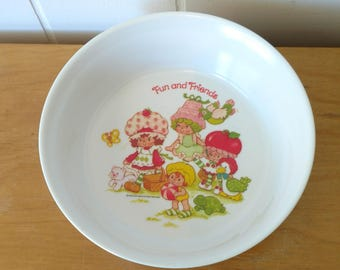 vintage Strawberry Shortcake cereal bowl