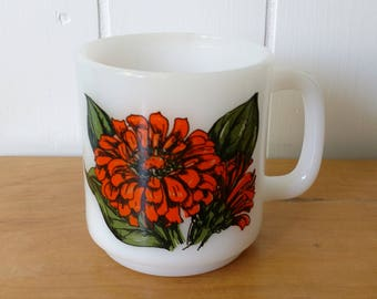 vintage Buttercup milk glass mug Glasbake