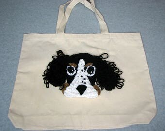 Springer Spaniel Canvas Tote - Dog Tote Bag- Pet Lovers Bag - Custom Tote Bag - Dog Lover Gift - Dog Moms Gift -