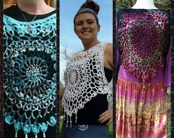 PDF Mandala Top Crochet Pattern