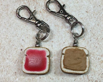 Peanut Butter and Jelly Best Friends Charms - Handmade from My Bead Garden