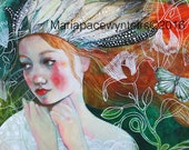 Her Journey-ACEO  Open edition reproduction by Maria Pace-Wynters
