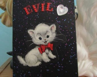 Evil Kitten {Original Collage}