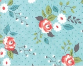 Nest - Full Bloom in Robin's Egg Blue : sku 5060-15 cotton quilting fabric by Lella Boutique for Moda Fabrics