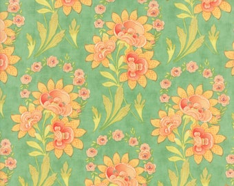 Hazel and Plum - Harvest Bouquet in Pond: sku 20290-16 cotton quilting fabric by Fig Tree and Co. for Moda Fabrics