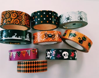 Halloween Washi Tape SAMPLER - Halloween Washi Tape - Deco Tape -Masking Tape - Planner Supplies - Scrapbooking