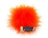 SALE Dark Orange Marabou Puffs 3 Inch Feather Puffs   Marabou Boa   Feathers   Wholesale Bulk Feather   Puffs  Hair bow Marabou Feather Puff