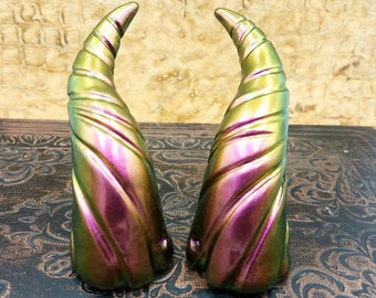 Zionic Pink/Purple/Green Mini Dragon Fairy Costume Horns - Made to Order