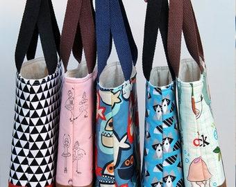 Kid tote bag, Black Orange Mod, Scripture bag, bible, Beach, pool, library bag, diaper bag, Dance bag, preschool, Book bag, Toddler Tote bag