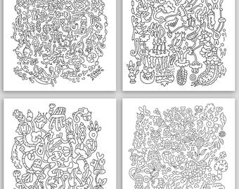 DIY notecards, Coloring Cards, Art Therapy, Stress Relief, Cards to color, Coloring pages, Crafty gift, Adult coloring cards, 5 x 7 cards