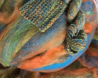 Trix - appx. 8 ounces - Wool and Mohair Roving