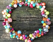 Spring Fakeout,  a necklace made of vintage Lucite by Wendy Baker