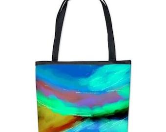 Colorful Abstract Art Handbag Purse Shoulder Bag My Funky Abstract Digital Painting