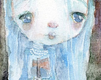 Constance Hatchaway - mixed media art print by Mindy Lacefield