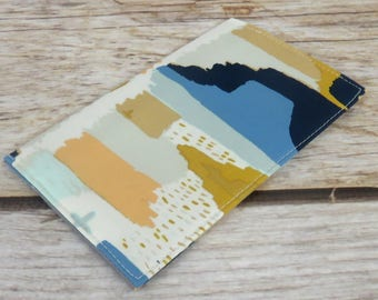 Checkbook Cheque Cover Receipts Money Holder - Painting in Morale - April Rhodes Fabric - Aztec - Tribal