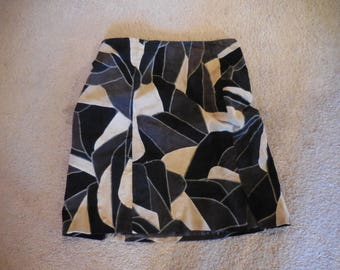 Vintage Patchwork Suede Leather Mini Skirt Size 3X 1990's