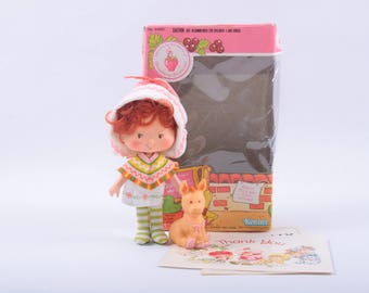 Vintage Strawberry Shortcake Doll in the Box, Cafe Ole, Pet, Donkey, Accessories ~ The Pink Room ~ CC002
