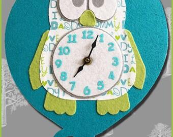 Cute Owl SVG Cut File Felt n Flannel Clock, or Use Owl shapes for T Shirts, Vinyl, HTV etc w Cricut, Cricut Maker, Silhouette, Nursery, Kids