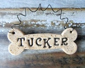 Dog Bone Ornament, personalized dog bone, made to order