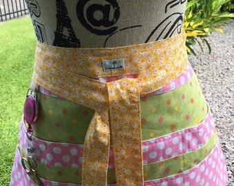 Polka Dots - Sewing -Quilting -Crafter's -Vendor's - Waitress Half Apron
