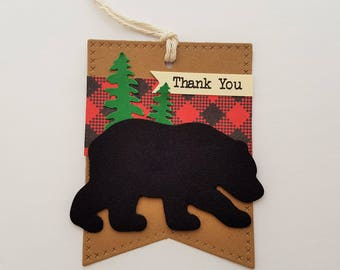 Lumberjack Tags, Lumberjack Favor Tags, Baby Shower Tags, Birthday Party Tags, Camping Party Tags, Gift Tags CHOICE OF TEXT