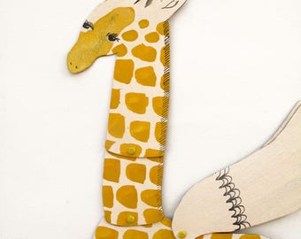 Gregory 113 / Giraffe Articulated Decoration  / Hinged Beasts Series