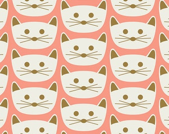 Dana Willard for Art Gallery FABRIC - Blush - Cat Nap in Pink