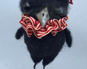 Kennedy the crow  Ooak art doll