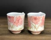 Handmade Poppy Garden Whiskey Cup