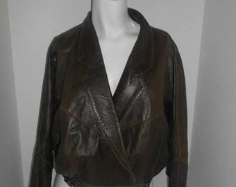 Closing Shop 40%off SALE Women's short batwing bat wing leather jacket     Q       Made in England Uk     S small