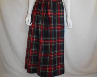Closing Shop 40%off SALE Wool Skirt tartan plaid