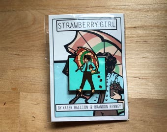 Strawberry Girl Pin