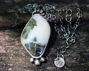 Ocean Jasper sterling silver necklace