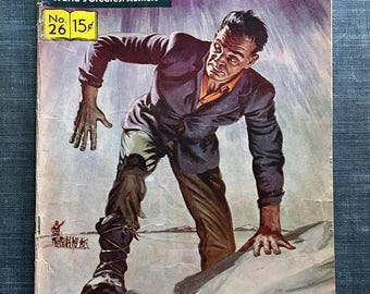 Classics Illustrated Comics No. 26 Frankenstein by Mary W. Shelley, Vintage Comics, Frankenstein, Old Comic Book, Silver Age Comics