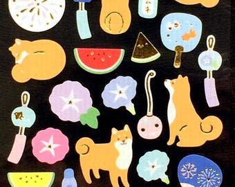 Dog Stickers - Summer Stickers - Japanese Stickers -   (S287)