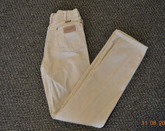 "SALE Khaki Jeans,Wrangler 80's  29"" X 35 .5""  Made in the USA,High waist denim  great vintage condition, Made in USA"
