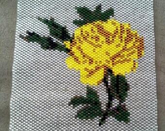 Yellow Rose Amulet Bag Panel