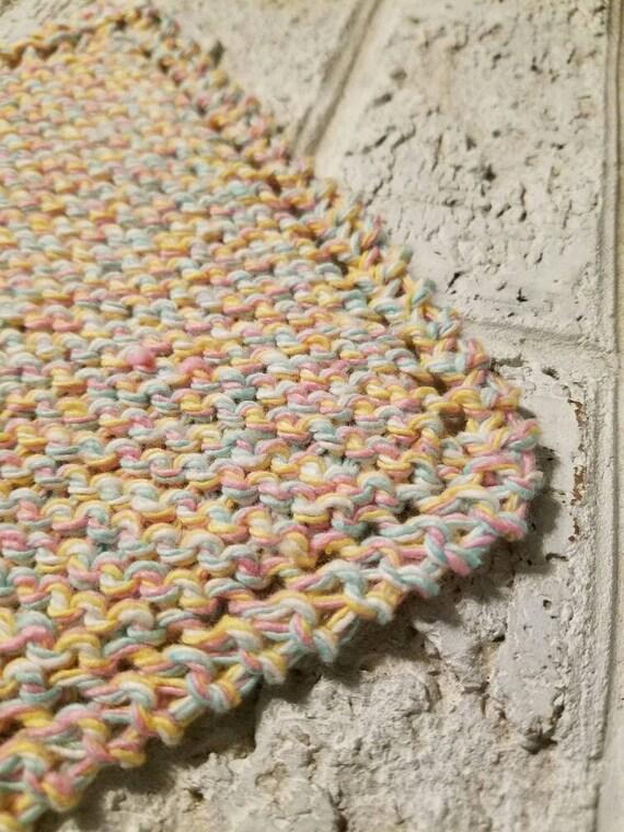 Pastel Marl Cotton Dishcloth
