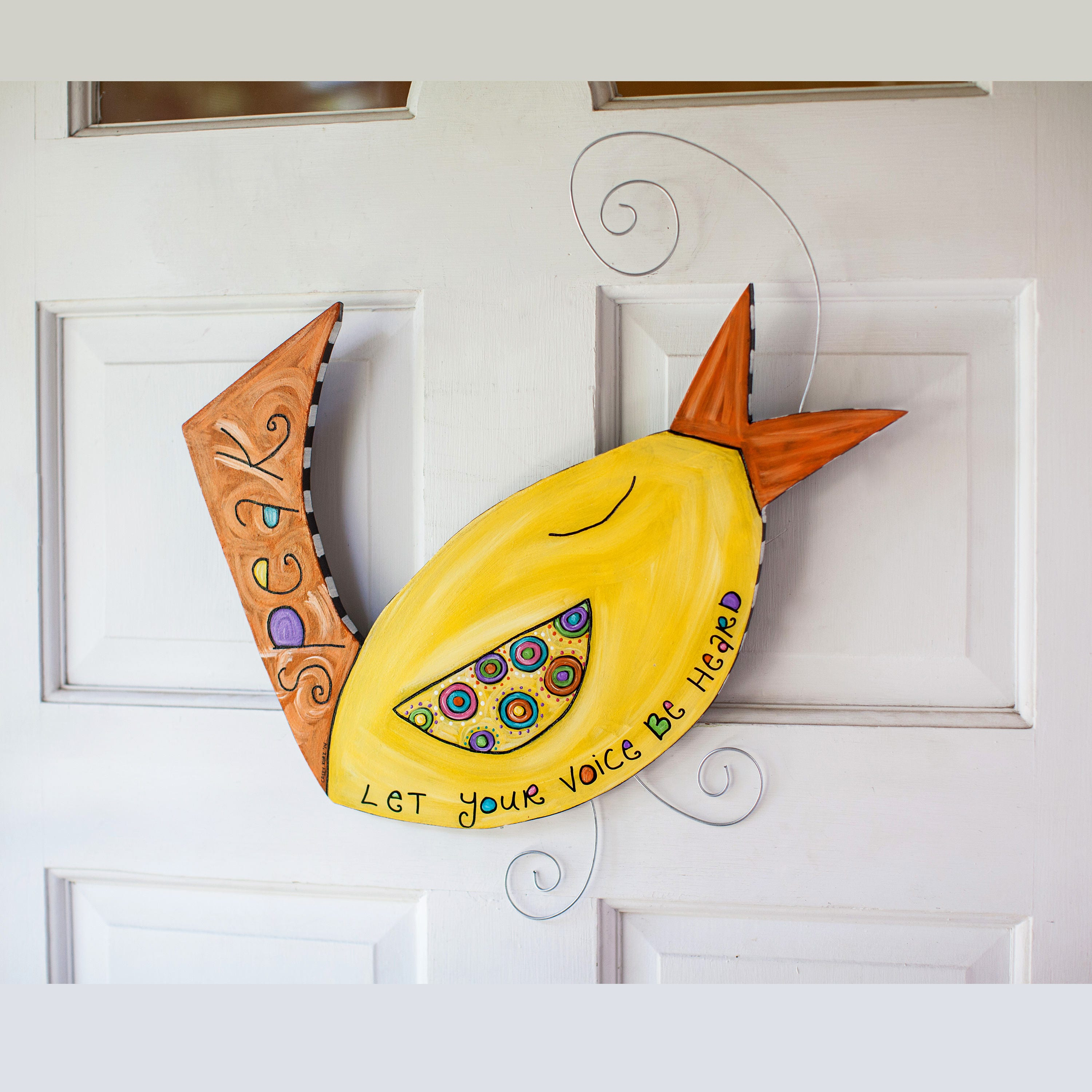 Let Your Voice Be Heard, Unique, Yellow Bird, Wall Plaque, Animal ...