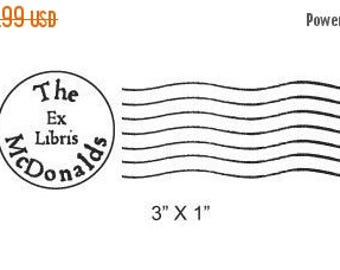 Super Summer Sale Post Mark Ex Libris Library Stamp Custom Rubber Stamp D10