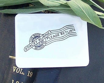 Xmas in July Postal Cancellation Vintage Personalized Ex Libris Rubber Stamp H06