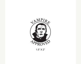 Xmas in July Vampire Approved Rubber Stamp 466
