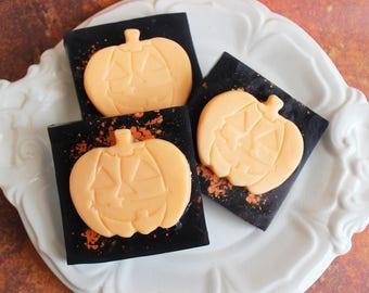 Pumpkin Soap - Halloween Soap, Pumpkin Spice, Jack O Lantern, Fall Soap, Gag Gift, Soap Favors, Trick or Treat, Fun Soap, Kids Soap, Spooky