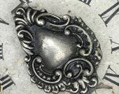 Antique Repousse Chatelaine Waist Purse Clip Unmarked