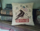 Reserved for MARY - - PriMiTiVe - - Freedom 1776 - - EaRLy LoOk CrOSs STiTcH Cupboard Tuck